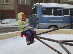 The kids and I had our own adventure. Here is the Mongolian equivalent to a Merry-Go-Round.