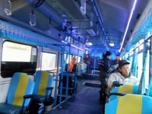 Inside one fun bus