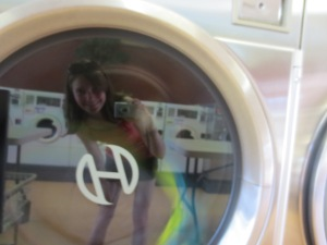 yep..I think that's a washing machine selfie...
