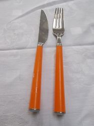 retro-wmf-cromargan-orange-coloured-handled-cutlery-knife